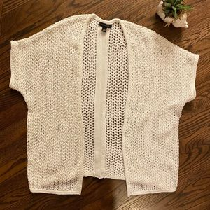 👑 4 for $25 👑 Ann Taylor white open cardigan EUC